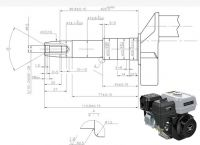 Motor ZONGSHEN GB200 196cc 6,5 HP kónická hřídel