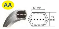 Klínový řemen oboustranný AA88, 13 x 2286 mm kevlarový