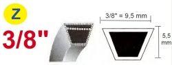 Klínový řemen Z 9,5 x 812,80 kevlarový