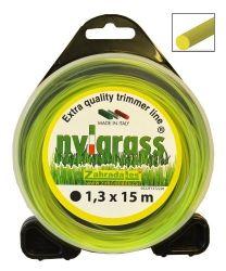 Struna sekací Nylgrass 1,3 mm kruhová Vyrobeno v EU