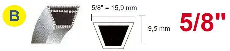 Klínový řemen B 15,9 x 1 524,00 - kevlarový