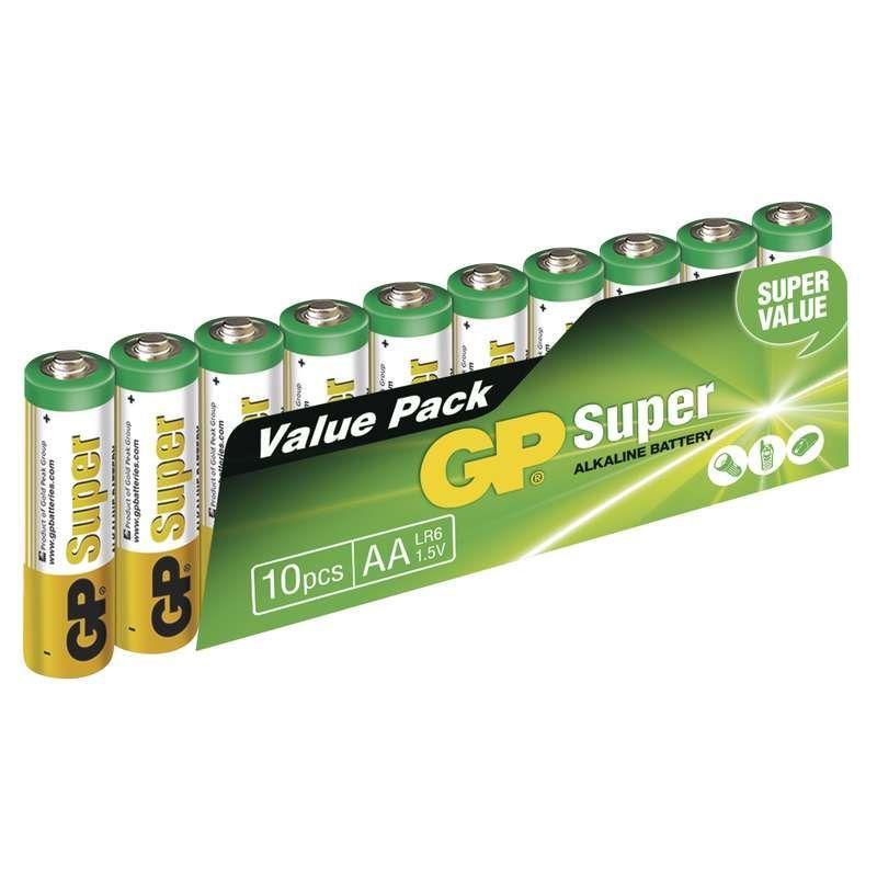 Alkalická baterie GP Super LR6 (AA) fólie EMOS spol. s r.o.