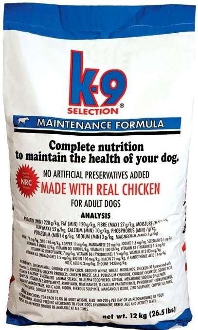 K-9 SELECTION MAINTENANCE FORMULA - pro dospělé psy 20 kg