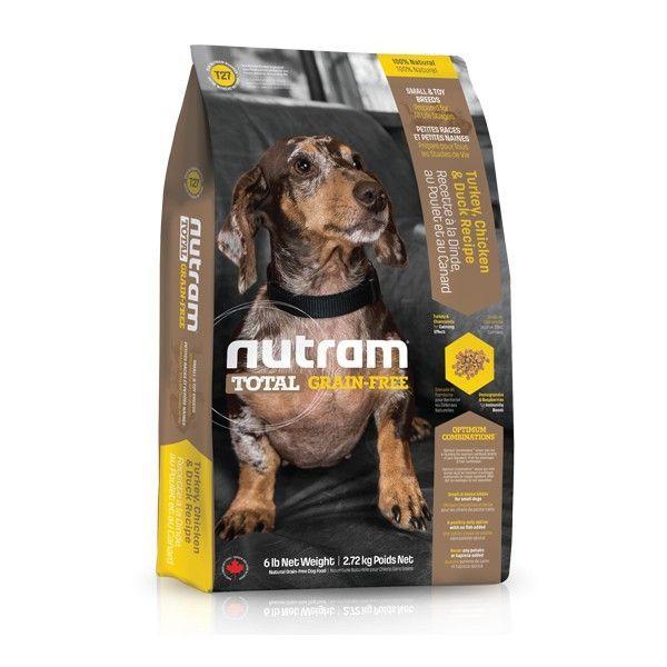 T27 Nutram Total Grain Free Turkey Chicken Duck Dog - bezobilné krmivo, krůta, kuře a kachna, pro psy malých plemen NUTRAM PET Product (Kanada)