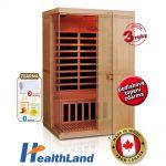 Infrasauna HealthLand DeLuxe 2200 Carbon-BT + dárek ZDARMA