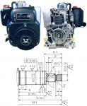 Motor Zongshen NH150H pro vibrační pěchy