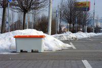 Nádoba na zimní posyp stohovací bez výsypného otvoru SBA 400 l Vyrobeno v ČR