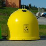 Sklolaminátový kontejner GFA na plasty 1500 l